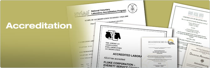 Fluke Calibration Certificates and Accreditations