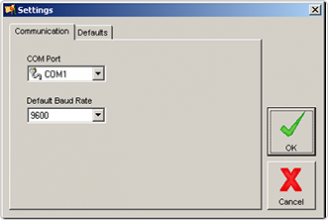 9940 IO Toolkit, settings dialog