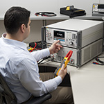 Calibration Technician Performing Interval Calibration