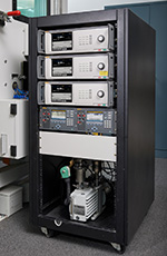 The 8370A Pressure Controller / Calibrator on a Rack